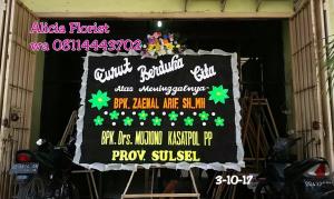 Karangan Bunga Papan Ucapan Duka Cita Makassar
