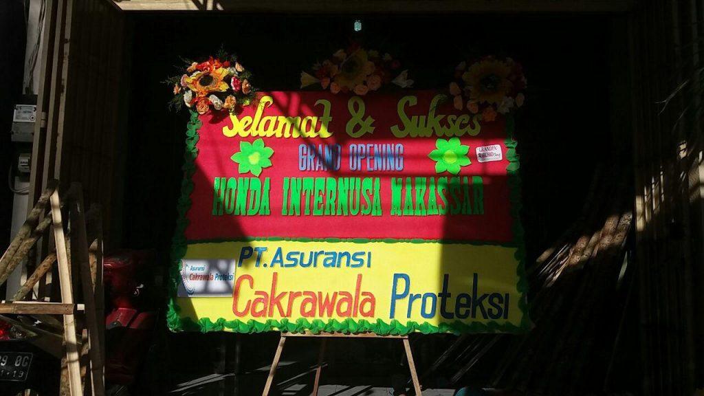 Papan Karangan Bunga Ucapan Grand Opening Makassar
