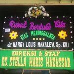 Papan Karangan Bunga Ucapan duka cita di Makassar
