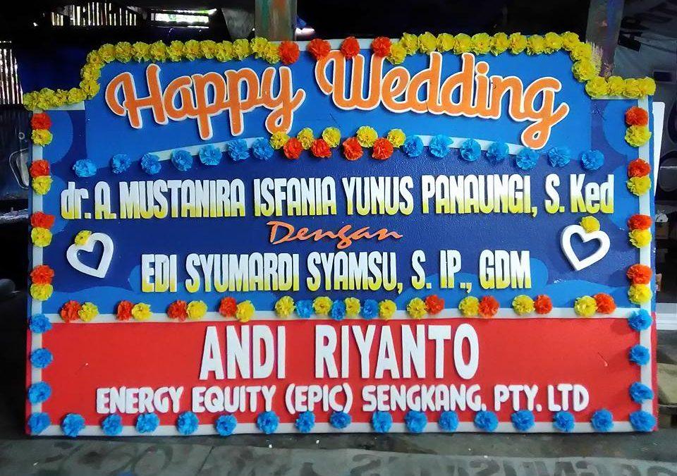 Papan Bunga Ucapan Pernikahan Makassar