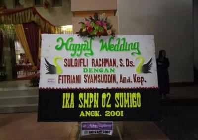 Bunga Papan ucapan pernikahan di makassar